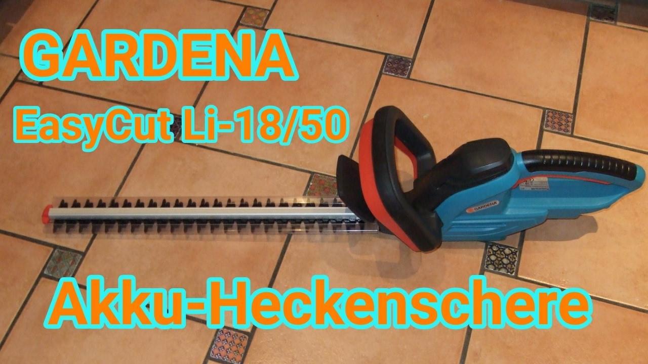 gardena akku heckenschere easycut li 18 50 unboxing test. Black Bedroom Furniture Sets. Home Design Ideas