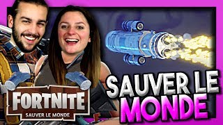 WE'RE TAKING OFF A ROCKET! FORTNITE SAUVER THE WORLD DUO EN