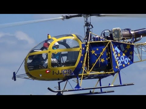HUGE LAMA III SCALE MODEL HELICOPTER with beckon RC Pilot AMAZING