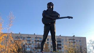 Памятник Виктору Цою в Санкт-Петербурге (1.11.2020) смотреть онлайн в хорошем качестве - VIDEOOO