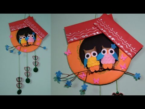 Wall Hanging Craft Ideas Easy With Waste Material | CRAFTSWOMAN