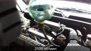 Работа двигателя на промывке Wynns
