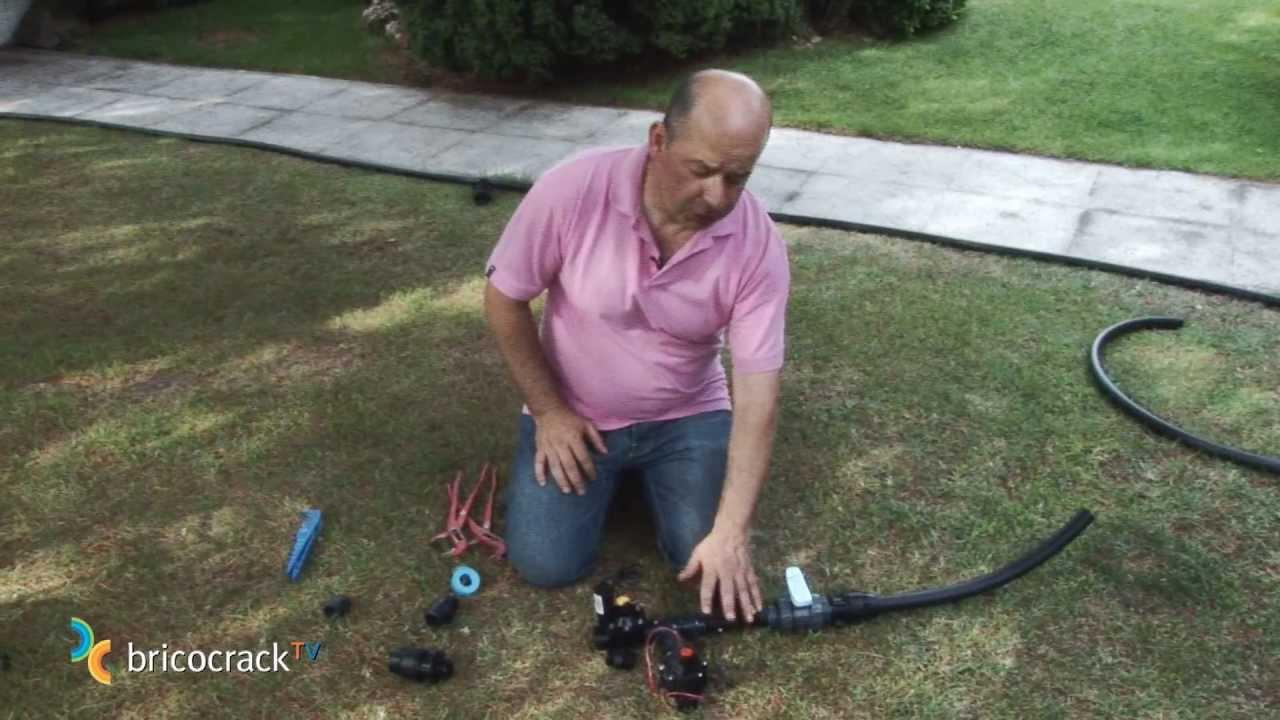 Jardiner a instalar un sistema de riego autom tico 1 - Riego automatico cesped ...