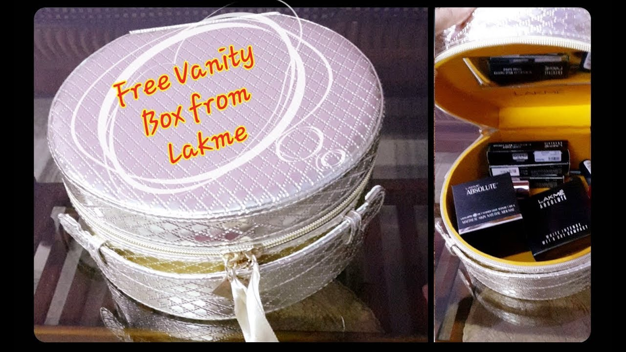 Bridal makeup kit Lakme Haul Got free vanity box on purchase of products worth Rs.5000💖