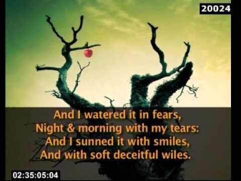 A Poison Tree William Blake - YouTube
