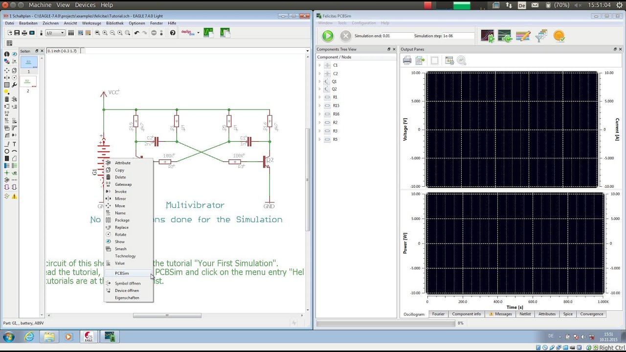 EAGLE Spice Simulation powered by PCBSim - YouTube