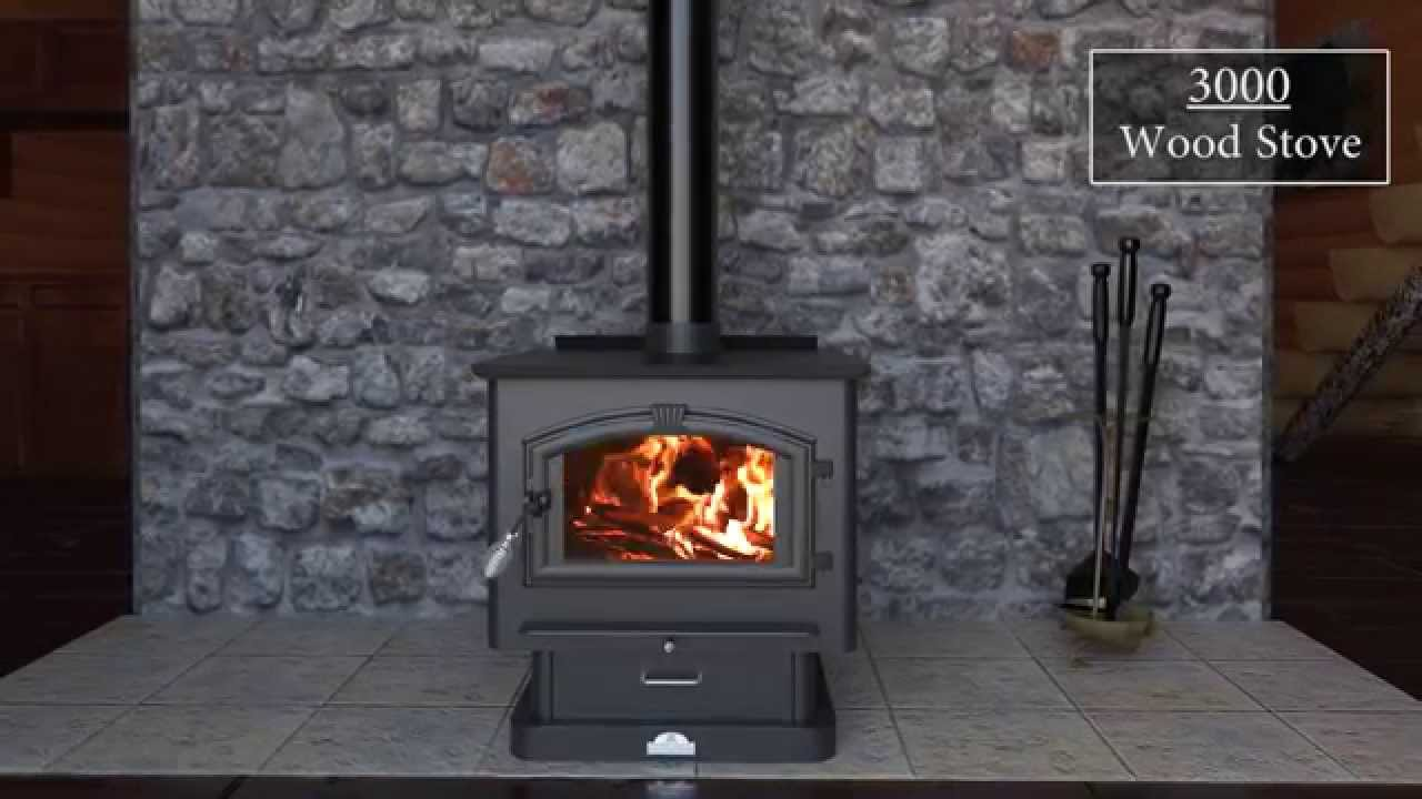 3000 Wood Stove Feature Video. US Stove - 3000 Wood Stove Feature Video - YouTube