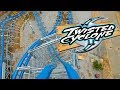 Twisted Cyclone Roller Coaster Front Seat REAL OFFICIAL POV Six Flags Over Georgia New 2018