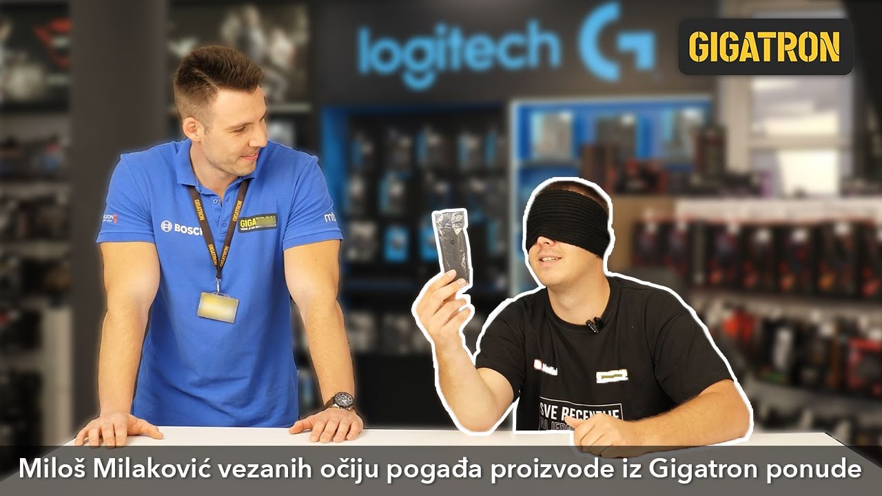 Miloš Milaković vezanih očiju pogađa proizvode iz Gigatron ponude