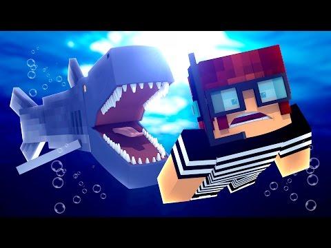 Minecraft : ATAQUE DO TUBARÃO GIGANTE !! - ( Polícia e Ladrão) - Видео из Майнкрафт (Minecraft)