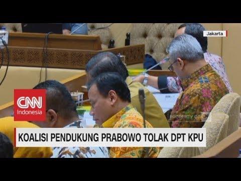 Koalisi Pendukung Prabowo Tolak DPT KPU