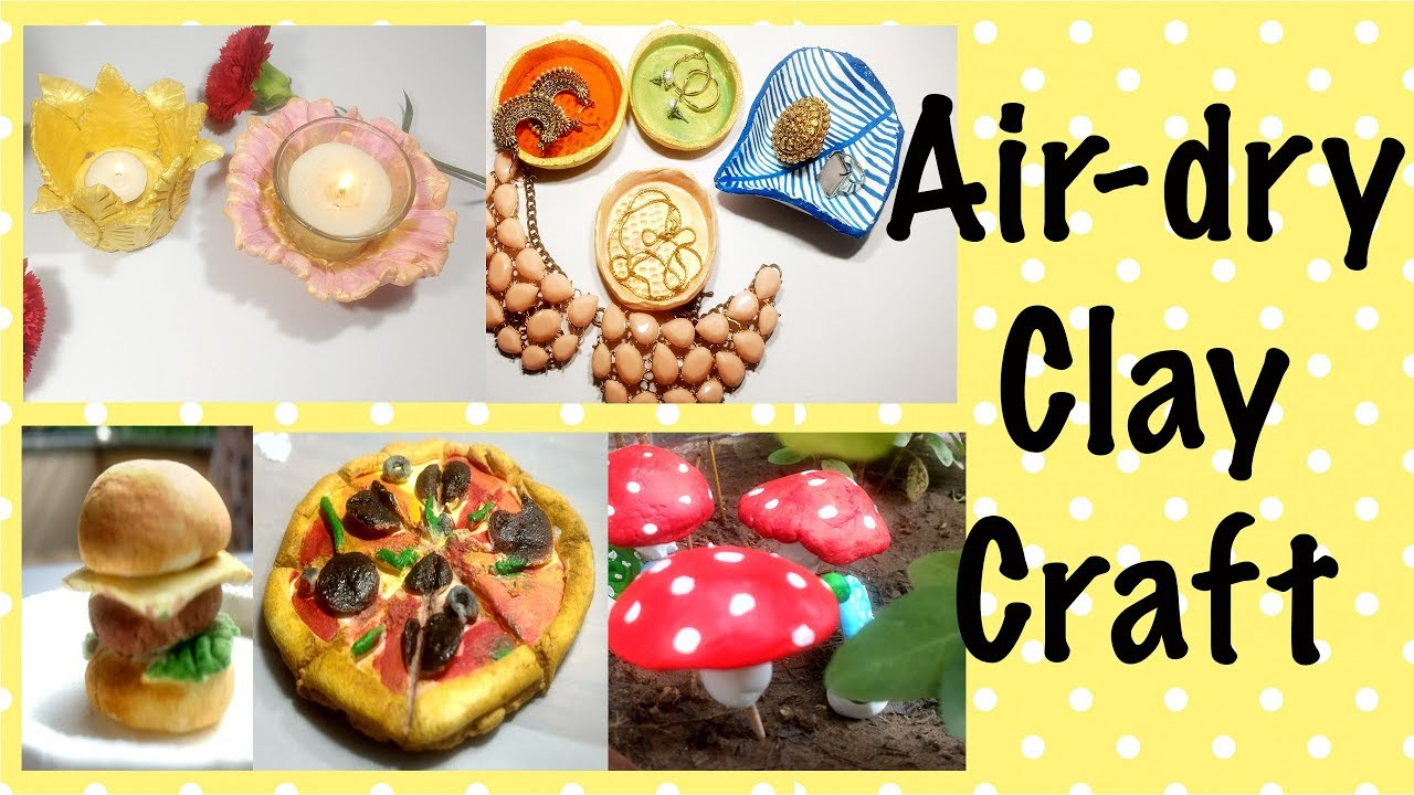 air-dry clay craft home and garden