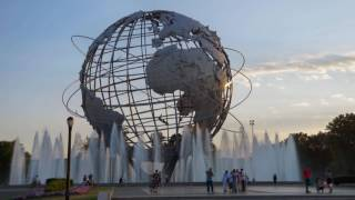 @ The Unisphere w / a NYC Falcon & The Rocket Thrower