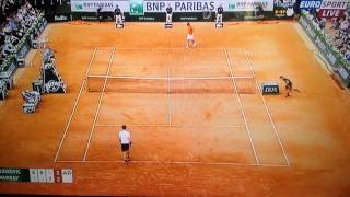 Andy Murray swearing. French Open. 5/6/15.