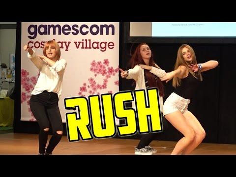 Rush Cover Dance Group @ GamesCom 2015 +  Super Slow Motion | German Nerd Attack