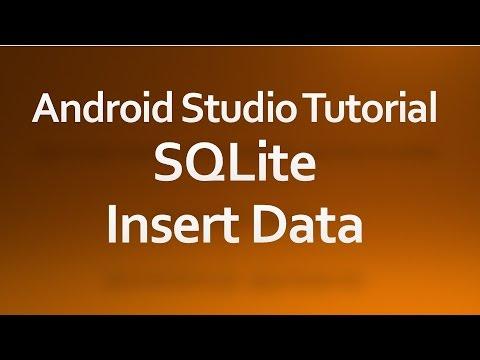 Android Studio Tutorial - 32 - Insert data into SQLiteDatabase