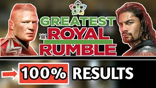 WWE Greatest Royal Rumble 2018 : 100% Results Predictions