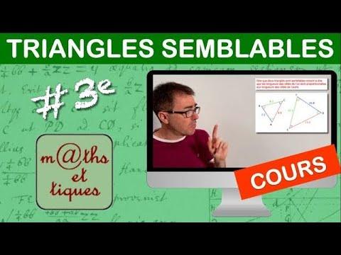 Download LE COURS : Triangles semblables - Troisième