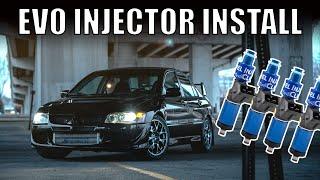 EVO 8 Fuel Injector Install // Dyno Pulls // Mitsubishi Lancer Evolution