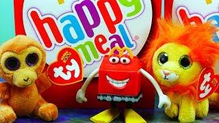 Happy Meal   Zwierzaki Beanie Boos z McDonalda & Smerfy   Bajki i Unboxing