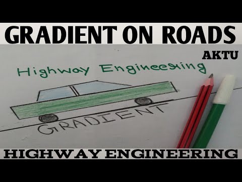 Gradient On Roads | Gradient In Highway Engineering