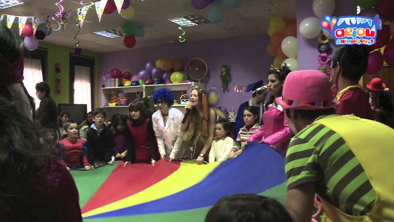 Juegos Para Cumpleanos Fiestas Infantiles A Domicilio Paracaidas