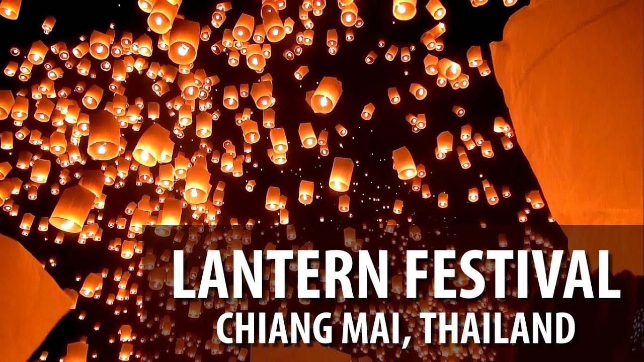 lantern festival yi peng loi krathong chiang mai youtube