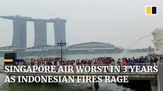 Singapore haze worst in three years as Indonesian fires continue