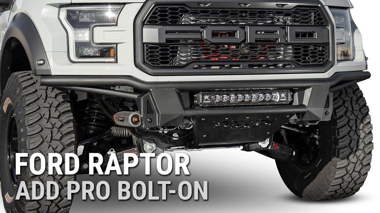 2017 2019 Ford Raptor Add Pro Bolt On Front Bumper
