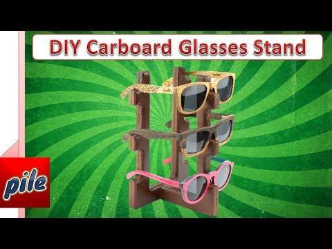 How To Make Cardboard Glasses Stand DIY