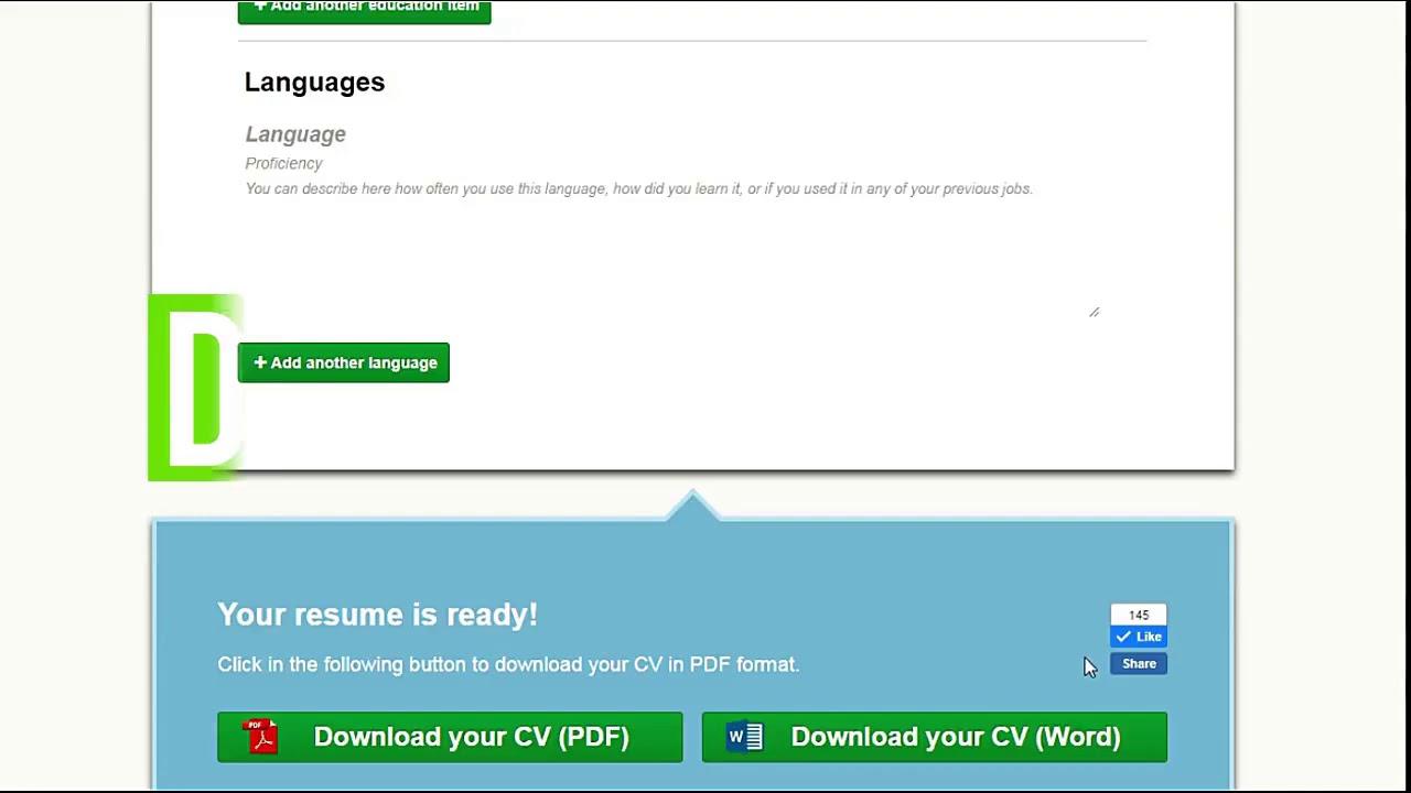 Resume Template Online Free Resume Builder Youtube