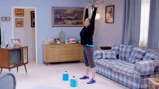 At-Home Workout: Thrusters and Jug Rows