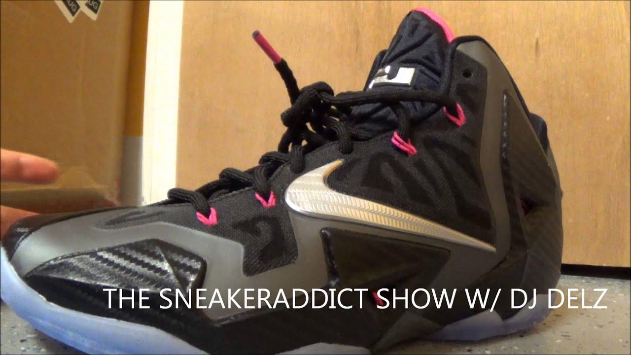 c90131e853f3 Nike Lebron 11 Miami Nights Carbon Fiber XI Sneaker Review + On Feet W    DJDelz