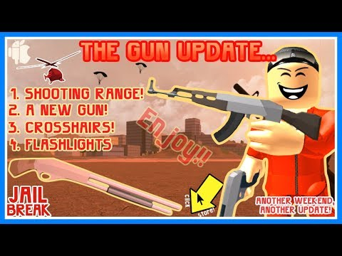 BRAND NEW GUN UPDATE!! 🔴 SHOOTING RANGE, FLASHLIGHTS, AND DONUTS! (Roblox Jailbreak)