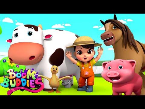 Old MacDonald Had A Farm | Farm Song For Kids | Children Nursery Rhymes By Boom Buddies