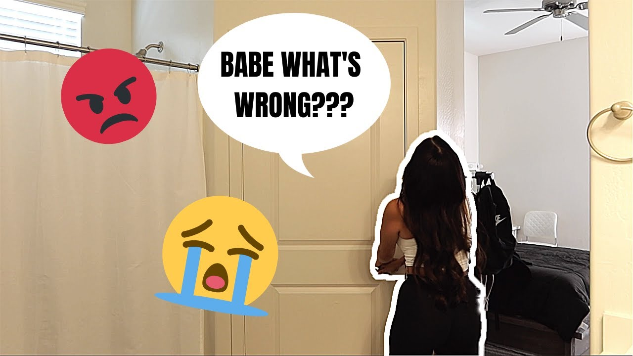 CRYING WITH THE DOOR LOCKED Prank On GIRLFRIEND! *Cute Reaction*