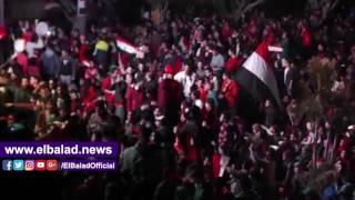 فرحة هدف 'النني' تهز ستاد المنصورة وسط هتاف 'الله أكبر' .. فيديو