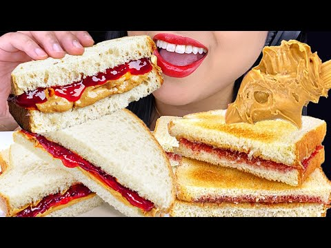 asmr-peanut-butter-and-jelly-sandwich-*make-and-eat-with-me!-먹방-mukbang-(no-talking)-asmr-phan