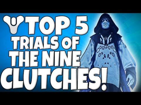 Destiny 2 - Top 5 LAST MAN STANDING / Epic CLUTCHES - Episode 25 - Trials & More