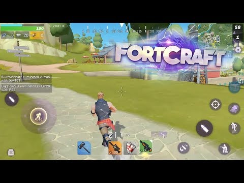 NEW FORTNITE MOBILE KNOCKOFF! (FortCraft)   FortCraft Mobile Gameplay