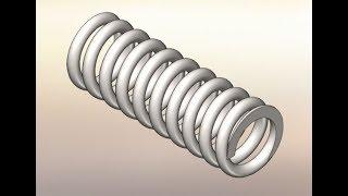66 Урок Solidworks как правильно дотошно, построить пружину сжатия