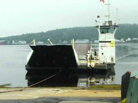 Lahave River Cable Ferry docking