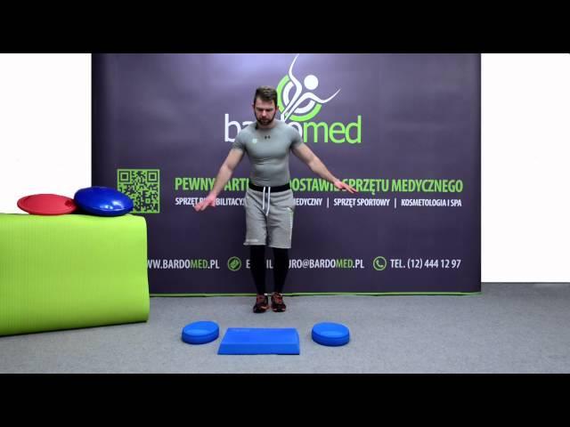 Poćwicz równowagę z prostokątną poduszką Mambo Balance Pad MSD
