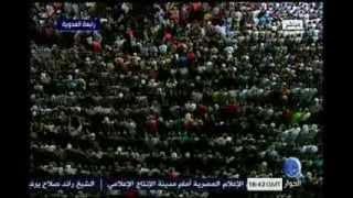 مشهد رهيب يبكي القلب في رابعة العدوة - إنها دعوات الساجدين لنصرة الحق وزهق الباطل - تحيا مصر