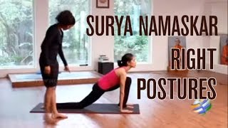 Surya Namaskar with right postures