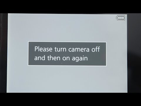 Please Turn Camera Off and Then On Again - Panasonic G7 Error Message