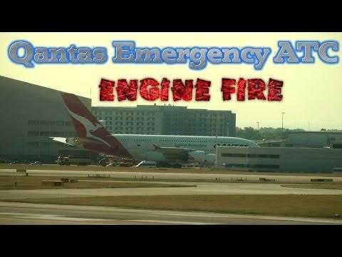 Qantas QF94 Engine Fire A380 Emergency Landing Los Angeles ATC