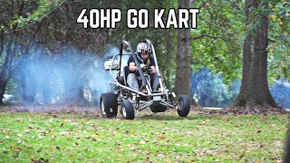 440cc 2 Stroke Go Kart First Ride!