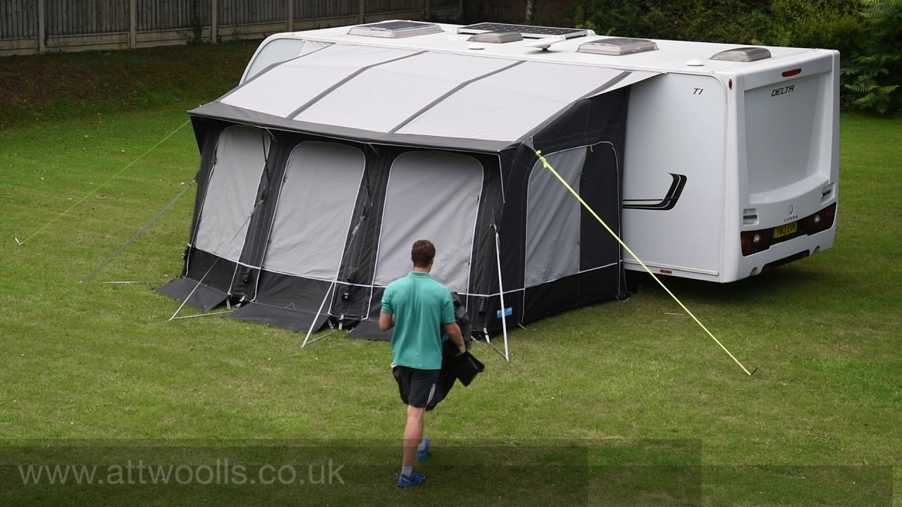 Kampa Ace Air 400 All Season Awning Pitching U0026 Packing (Real Time) Video