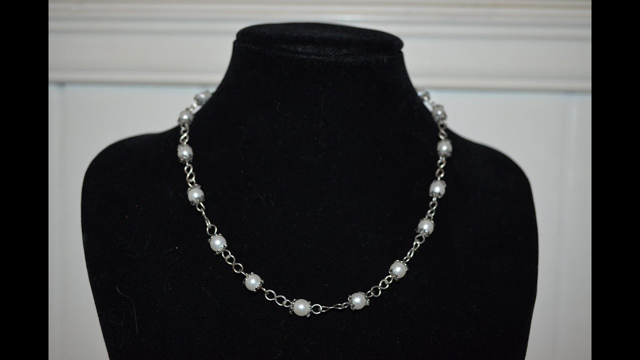 Jewlery tutorials episode 13 pearl chain necklace youtube baditri Choice Image